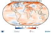 L'année 2018 La 4ème la plus chaude de l'histoire moderne